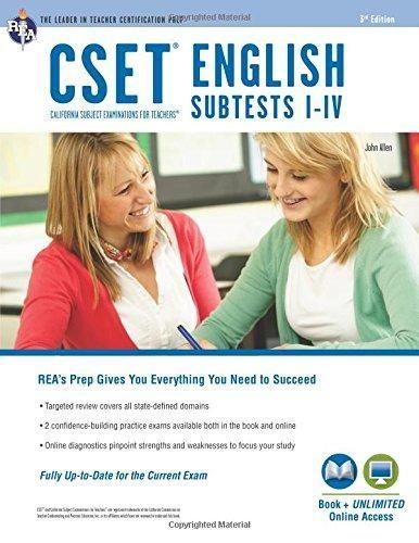 CSET English Subtests I-IV Book + Online (CSET Teacher Certification Test Prep) - Default