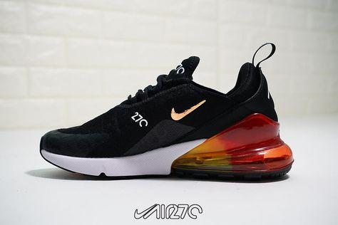 Men's Nike Air Max 270 Lifestyle Shoe Black Rainbow Air