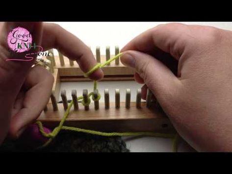Loom Knitting Cast On Series: Half Hitch Cast On or Backwards loop