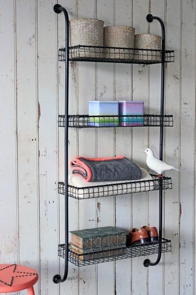 Wall Mounted Wire Shelving Einheiten Regale Wandregale Design