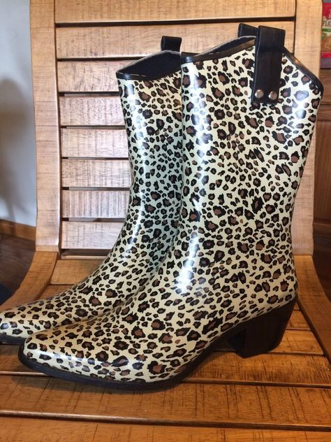 Capelli 10 Women s Leopard Western Cowboy Cowgirl High Quality Rain Boot   Capelli  Rainboots 6a79709f9964
