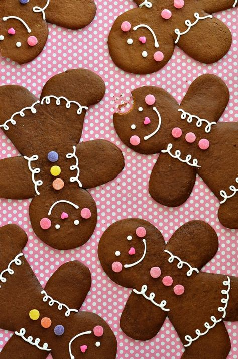 "The Perfect Gingerbread Cookie. ""A dark, robust and spicy gingerbread cookie with a slightly crispy edge and semi-soft center. This cookie dough rolls like a dream."""