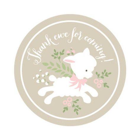 Lamb Baby Shower Invitations Pink Little Lamb Invitation | Etsy