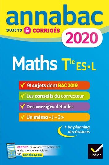 Annales Annabac 2020 Maths Tle Es L Ebook By Martine Salmon Rakuten Kobo Maths Terminale S Terminale S Terminale Es