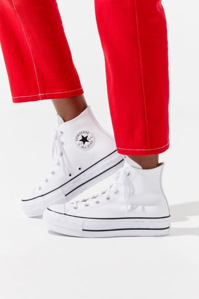 converse chuck taylor all star lift high top blancas