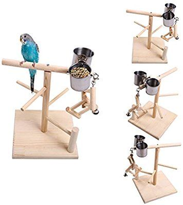 Amazon com : QBLEEV Bird's Nest Stand Playground Climb Wooden