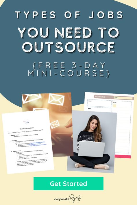Gain 10+ Hours back each WEEK! [FREE 3-day Mini-Course] Learn WHERE you are wasting time. Discover the Types of Jobs you can Outsource. Where to FIND amazing HIRES! FREE Template and Examples! #outsource #smallbusinessowner #businessgrowth