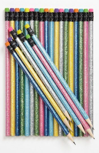 glitter pencils - great for back to school