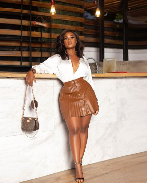 Dressy Outfits, Simple Outfits, Stylish Outfits, Girl Outfits, Fashion Outfits, Black Girl Fashion, Curvy Fashion, Fashion Looks, Looks Street Style
