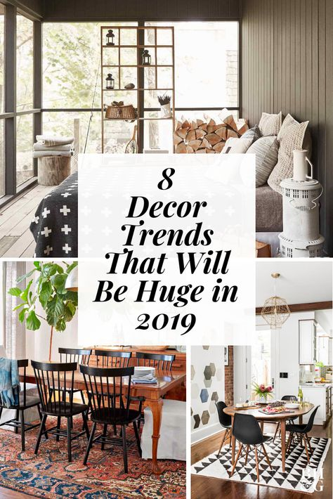 See what the experts say is in store for furniture, color, pattern, and accessories in 2019. #interiordesign