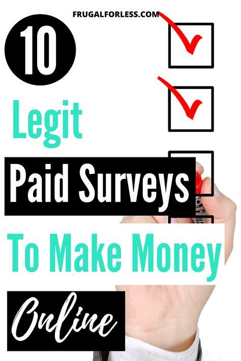 10 Legit Paid Surveys To Make Money Online