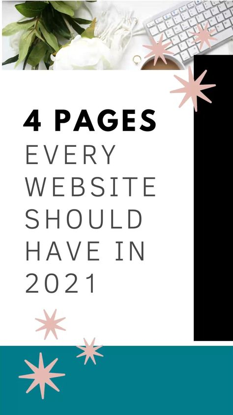 4 Pages Every Website Should Have In 2021