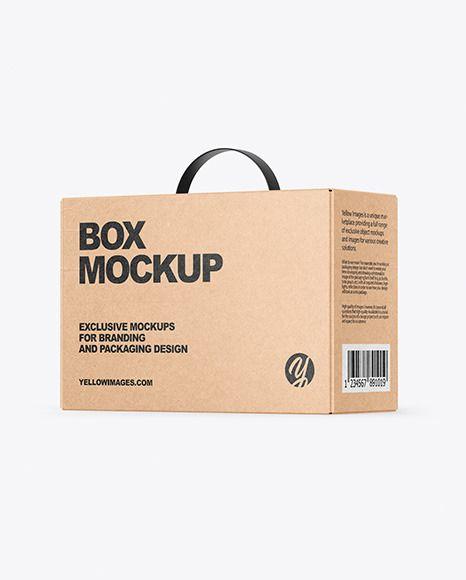 Download Kraft Box Mockup In Box Mockups On Yellow Images Object Mockups Box Mockup Design Mockup Free Free Psd Design