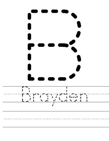 Tracer Pages for Names   Preschool names, Name tracing ...