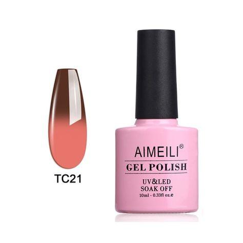 Gel Nail Polish - Temperature Color Changing - AIMEILI Gel Polish - Nail Art Designs