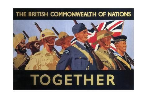 UNITY OF STRENGTH TOGETHER british EMPIRE servicemen POSTER new 24X36