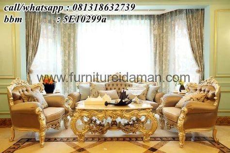 kursi sofa tamu mewah cat emas-yang satu ini merupakan
