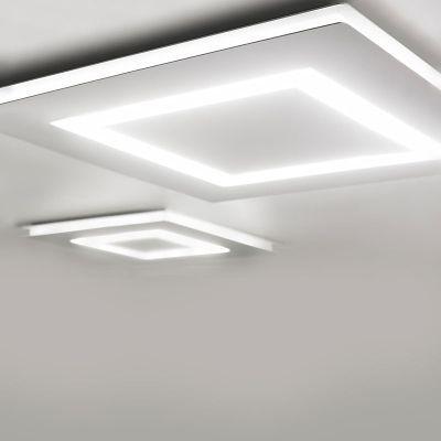 Flat Led Flushmount Ceiling Design Modern Simple False Ceiling
