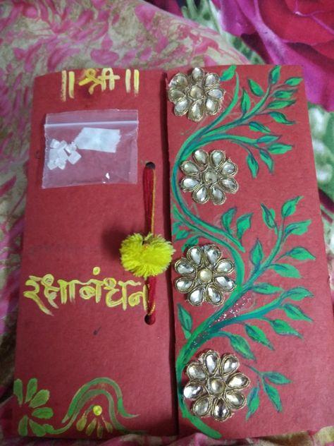 handmade raksha bandhan card for my dear brother