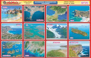 Chikipedia Y Chikilines Láminas Escolares Nº 572 Accidentes Geográficos Costeros Accidentes Geograficos Geograficos Costero