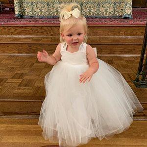 Peach Blush Tulle Flower Girl Dresses Baby Toddler Wedding Dresses Handmade Flower Girl In 2020 Flower Girl Flower Girl Dress Ivory Tulle Wedding Flower Girl Dresses