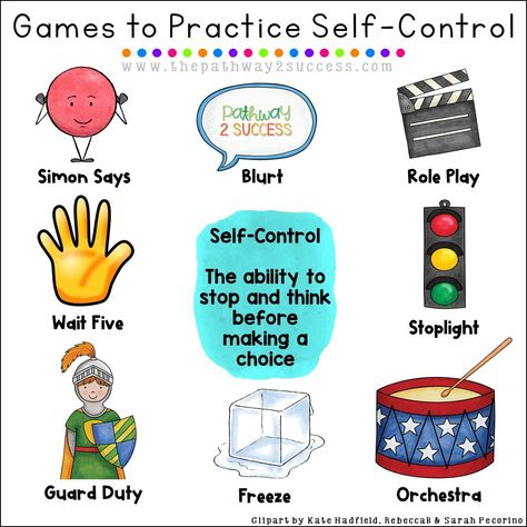 Use these games and play activities to strengthen self-control and self-regulation skills for kids and young adults. Teachers can use these games during break times or even as rewards! Games can be one of the best ways to help boost self control for teens Counseling Activities, Play Therapy Activities, Adhd Activities, Therapy Worksheets, Articulation Activities, Career Counseling, Camping Activities, Emotional Regulation, Emotional Development