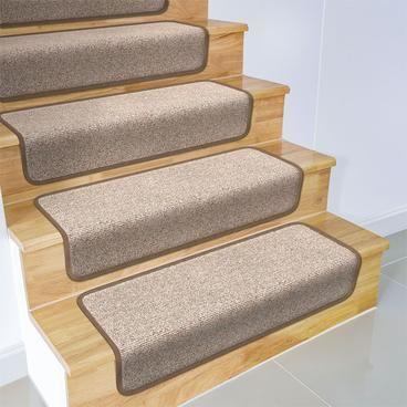 Overstep Attachable Carpet Stair Treads Pebble Beige In 2020 Carpet Stairs Carpet Stair Treads Stair Runner Carpet