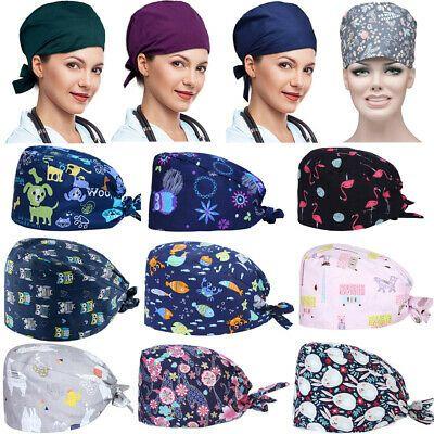 Mens Womens Doctor Nurses Cap Hospital Scrub Clinic Surgical Hat Dustproof Cap