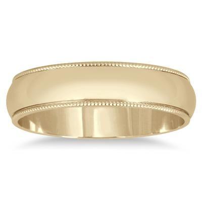Solid 10K Yellow 100/% Gold 3mm 4mm 5mm 6mm Men Women Wedding Band Ring