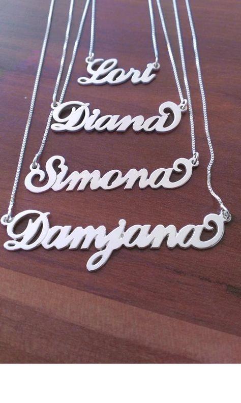 Srebrne verižice z imenom  http://bromelia.si/zenski-nakit/ogrlice/ogrlice-z-imenom