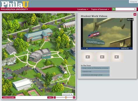 Philadelphia University Topic Panel Desktop Platform - Philadelphia university map
