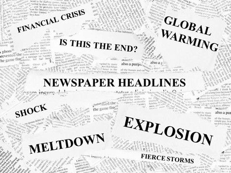 great template shows various newspaper headlines They are fully - newspaper headline template