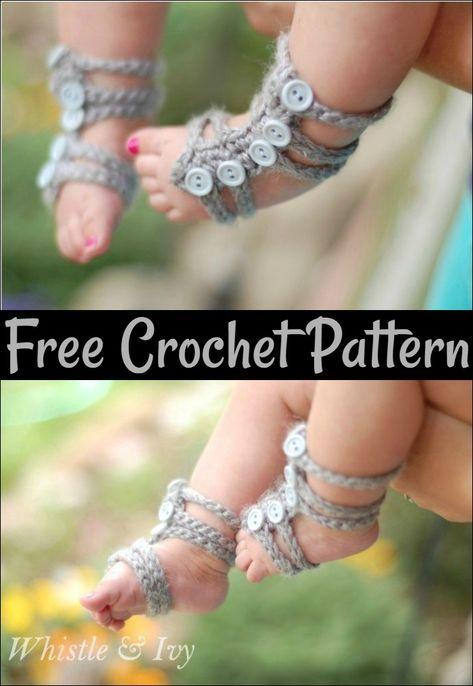 Crochet Baby Accessory Patterns Free Patterns Crochet Baby Barefoot Sandals Crochet Baby Sandals Crochet Sandals