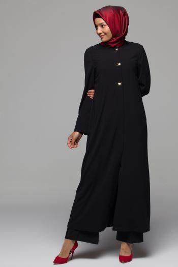 2019 Armine Tesettur Giyim Elbise Ekose