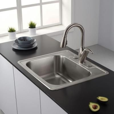 Kraus All In One Top Mount Stainless