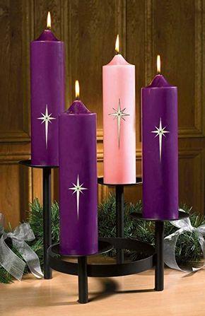 Star Of Bethlehem Advent Pillar Candle Set 48070 Decoracao