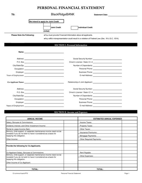 100 professional legal forms for personal use cheolgabol Pinterest - sample personal financial statement form