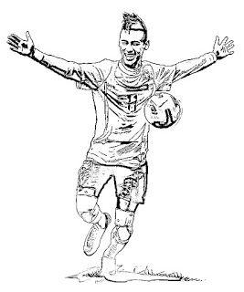 Dibujo De Neymar Para Colorear Dibujos Futbol Para Colorear Dibujos Para Pintar