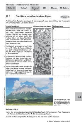 Iese Unterrichtseinheit Zu Den Alpen Ist Dem Themenkomplex