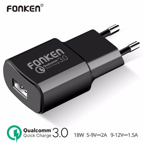 18W Quick Charge 3.0 Wall Charger + USB