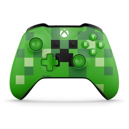 Microsoft Xbox One Wireless Controller Minecraft Creeper Walmart Com Xbox Wireless Controller Xbox One Controller Xbox Controller