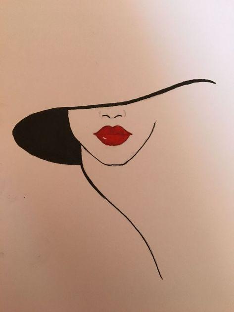 Hut und rote Lippen #LipPencilNatural - #Hat #LipPencilNatural #lips #red -   #