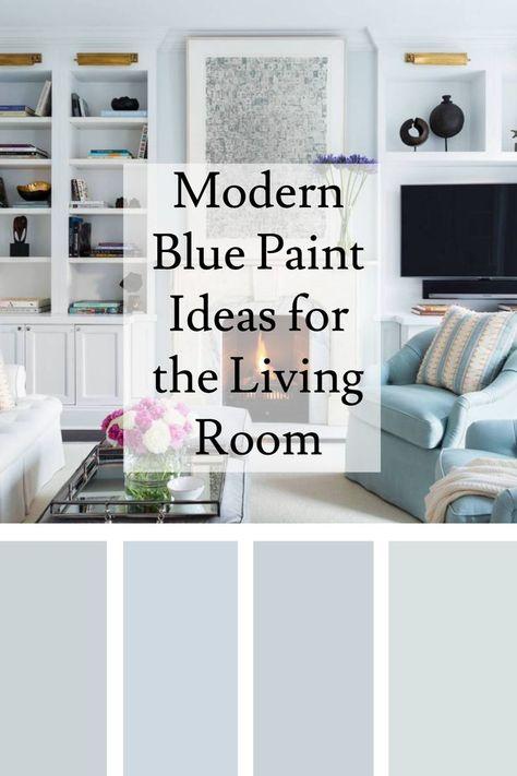 Room Redo Modern Blue Interior Paint Color Schemes Paint Colors