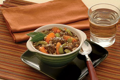 Barley and Beef Stew (great source of fiber)