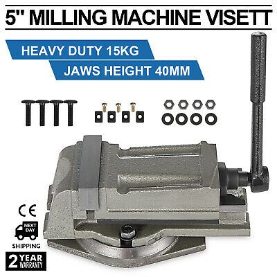 "Swivel Base Heavy Duty 15kg 5/"" 125mm Precision Milling Lathe Machine Vice"
