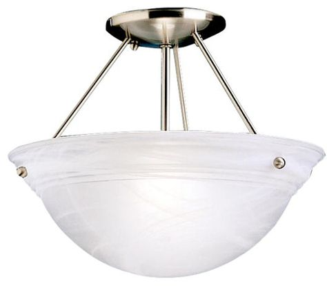Westinghouse 6622300 Wensley Two-Light Semi-Flush Ceiling Fixture