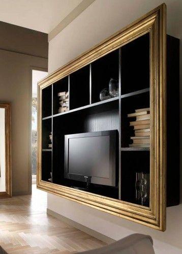 Libreria porta tv sospesa in frassino R.B.R. Ebanisteria ...