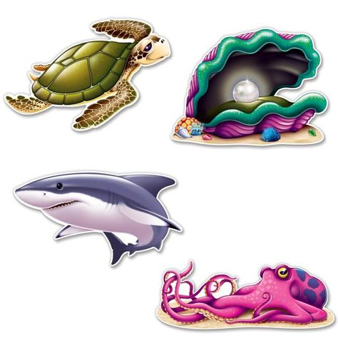 Under The Sea Creature Cutouts Sea Creatures Under The Sea Theme Under The Sea Party