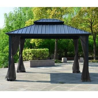 Bay Isle Home Dahlin Hardtop 12 Ft W X 10 Ft D Aluminum Patio Gazebo Reviews Wayfair In 2020 Patio Gazebo Hardtop Gazebo Gazebo