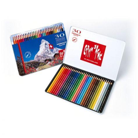 Boite Metal 30 Crayons Aquarelle Prismalo Caran D Ache Tekenen
